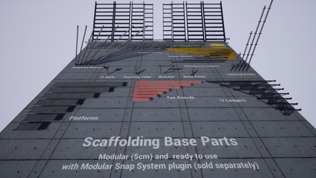 Scaffolding base parts