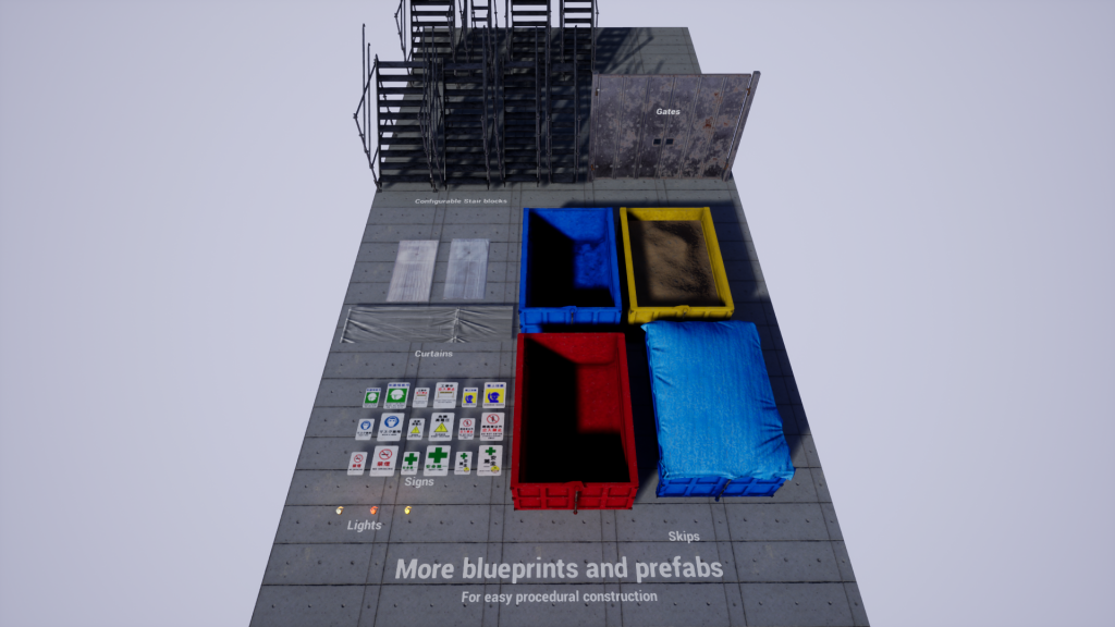 More blueprints and prefabs